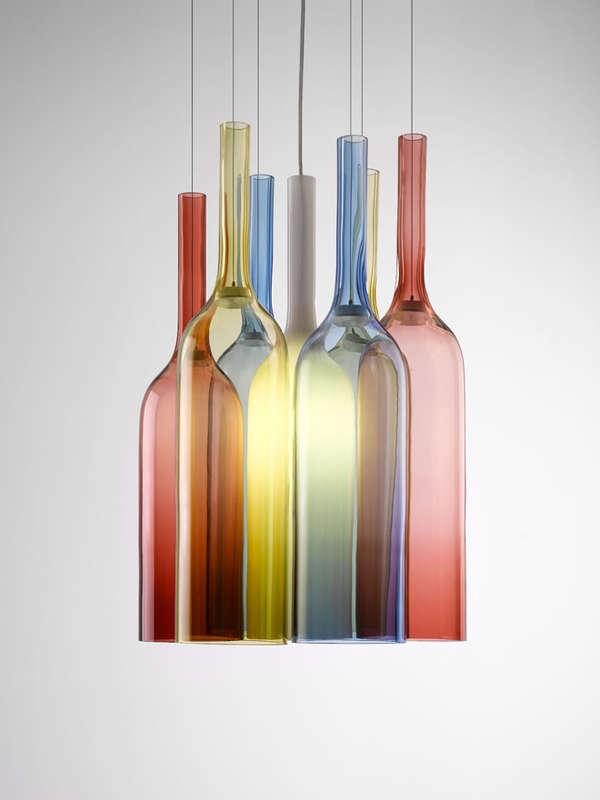 Glass Blown Rainbow Lights