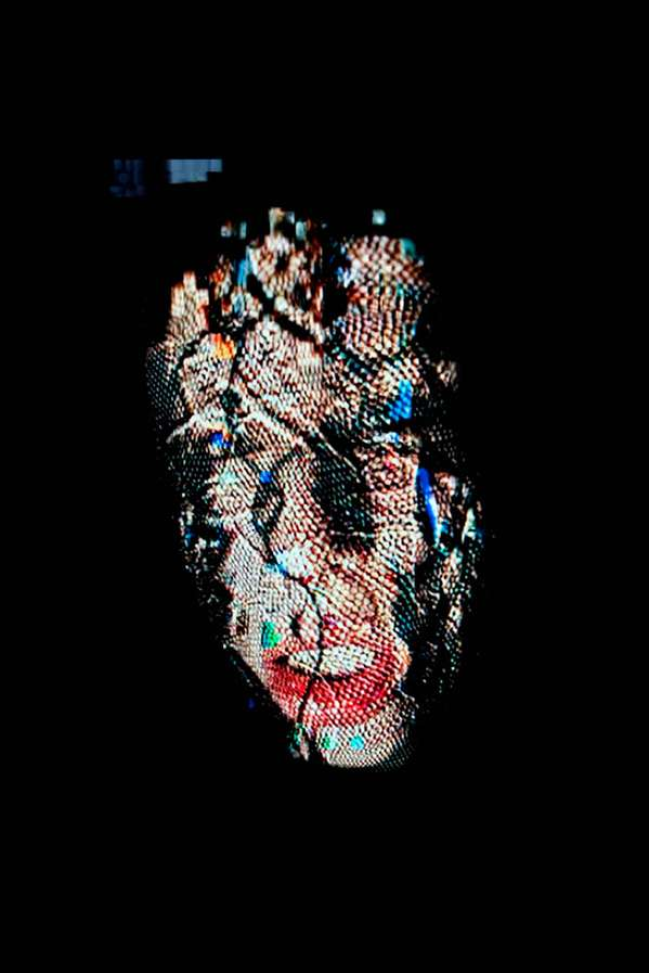 Datamoshed Female Portraits
