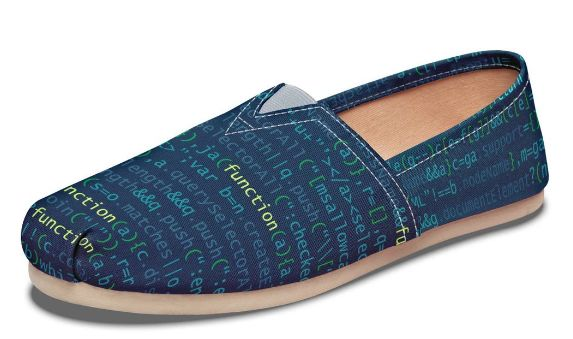 Comfortable Coding-Inspired Shoes