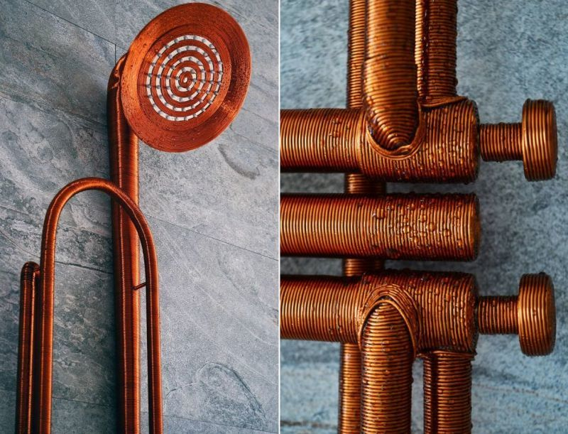 Trumpet-Inspired Shower Heads