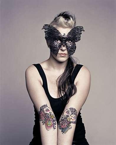 Butterfly Masks & Tattoos