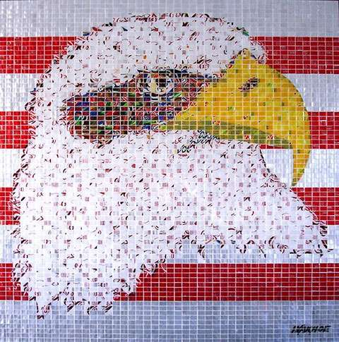 Recyled Can Mosaics