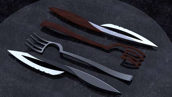 Weaponized Food Utensils