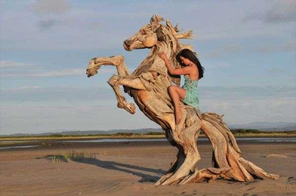 Breathtaking Driftwood Sculptures