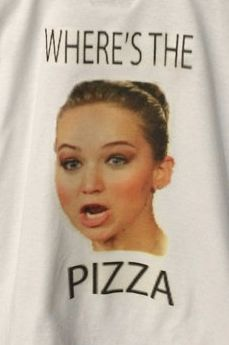 Pizza-Loving Celeb Shirts
