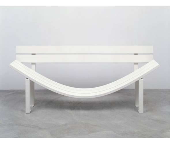 Bendy Blanche Benches
