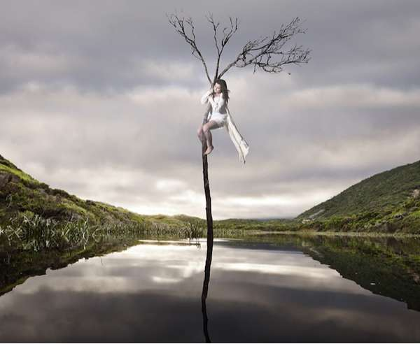 Surreal Tree-Clinging Portraits