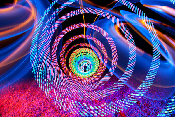Kaleidoscopic Light Paintings