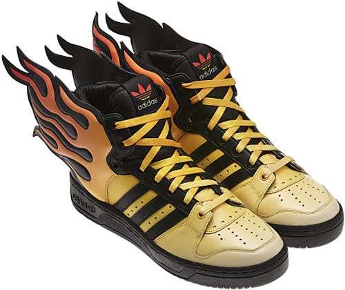 Fantastically Fiery Footwear : Jeremy Scott Flame Shoes