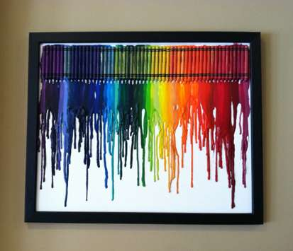 Dripping Rainbow Wall Art