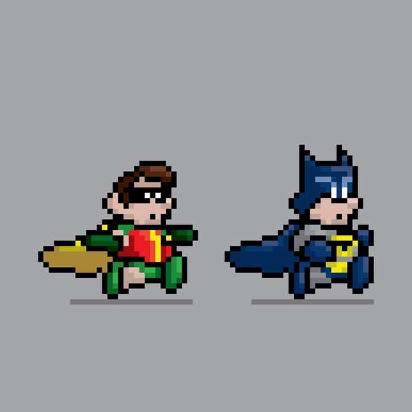 8-Bit Superhero Caricatures