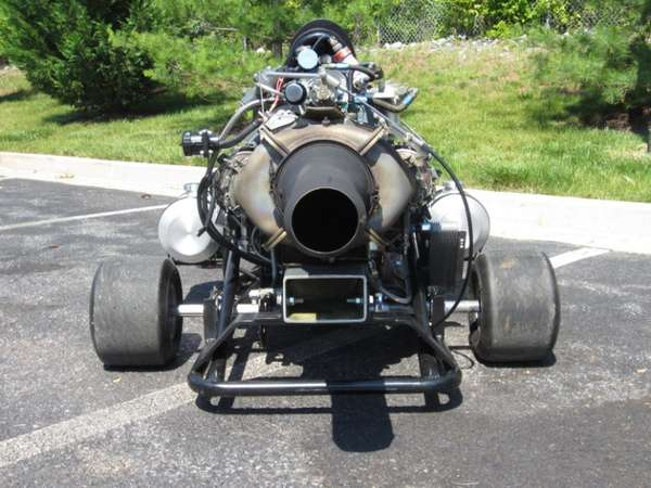 Supercharged Miniature Vehicles Jet Powered Go Kart