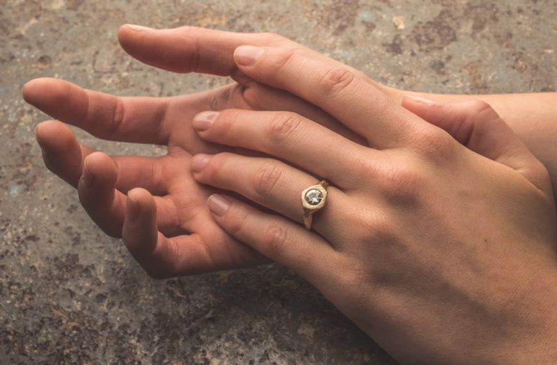 Recycled Metal Wedding Rings
