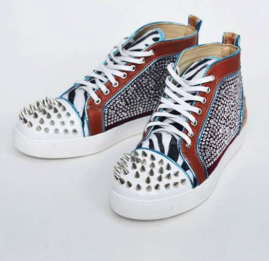 Affordable Couture Sneakers Jewelry Spikes High Shoes