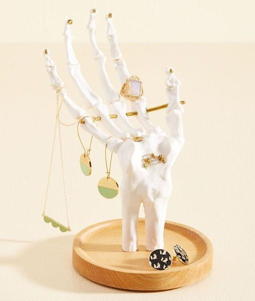 Ornate Skeletal Jewelry Stands