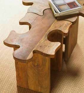 Puzzle Piece Decor The Jigsaw Puzzle Table And Stool Is A Fine And