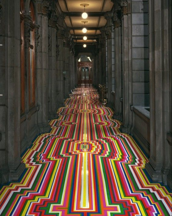 Psychedelic Striped Flooring