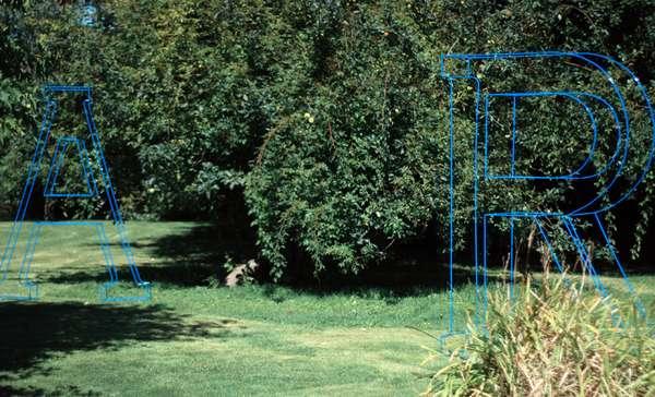 Giant Garden Typography