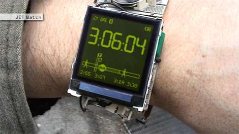 JITWatch Connects to PDA, GPS and Cellphone, Tells You How Much Time You Need