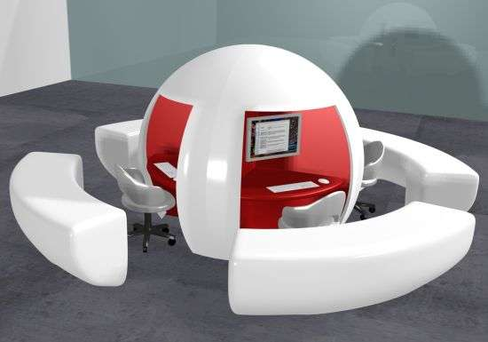 Egg-Shaped Workstations