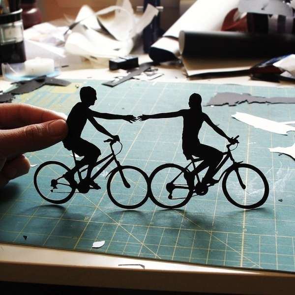 Intricate Cutout Silhouettes