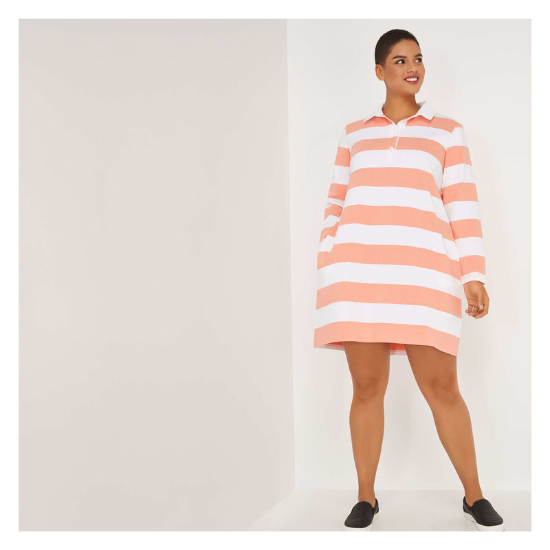 Breezy Rugby Shirt Dresses