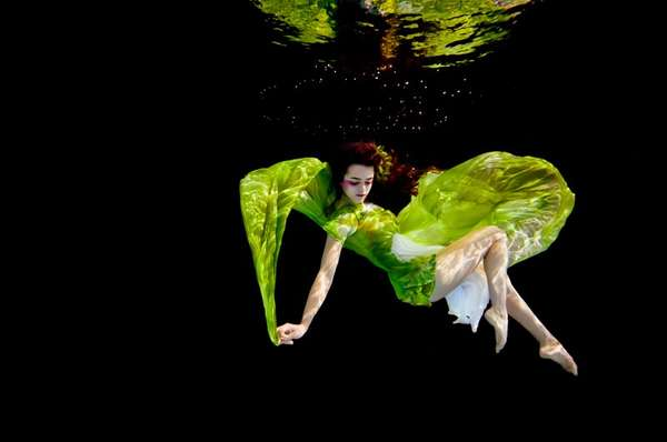Billowing Underwater Fashion