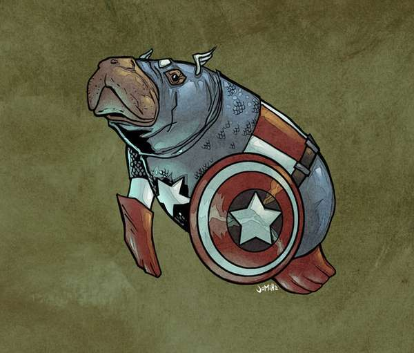 Hilarious Comic Hero Manatees