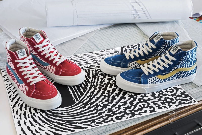 Wave-Printed Casual Shoes