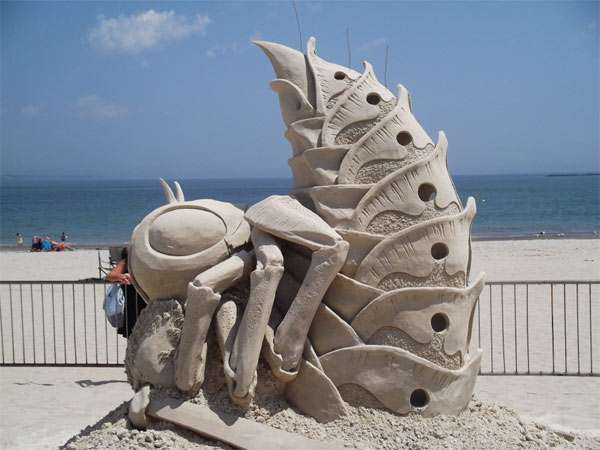 Stinging Sandy Sculptures
