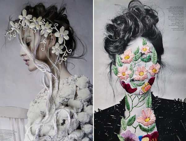 Elegant Embroidered Portraits