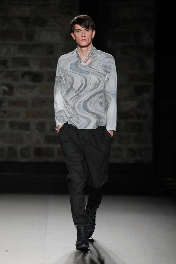 Sophisticated Swirl-Dyed Menswear