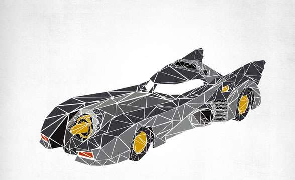 Polygonal Pop Culture Vehicles