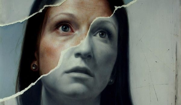 Hyper-Realistic Torn Paintings