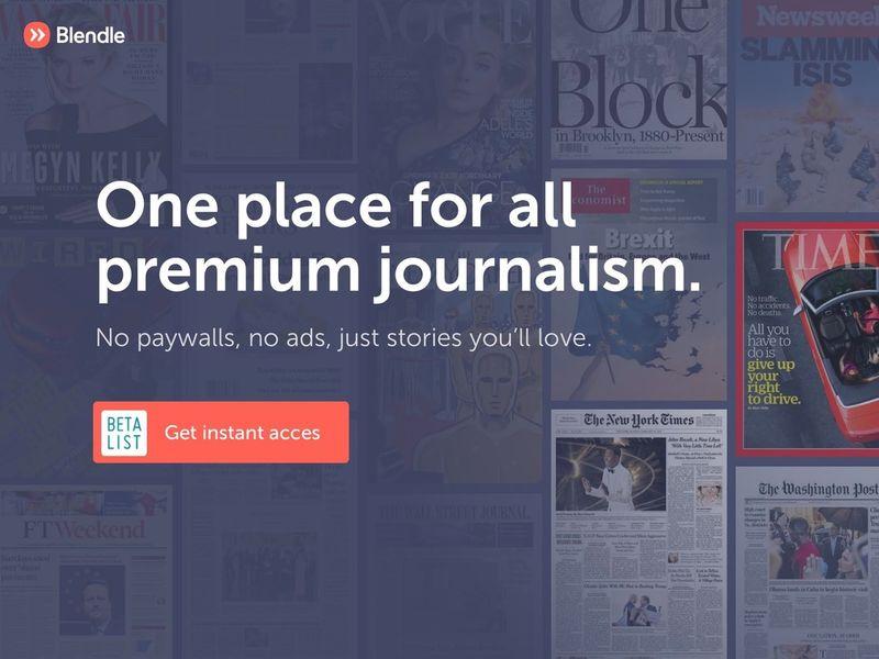Premium Journalism Platforms