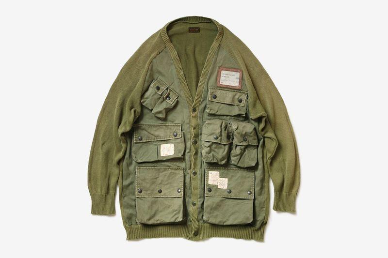 Upcycled Vintage Militaristic Cardigans