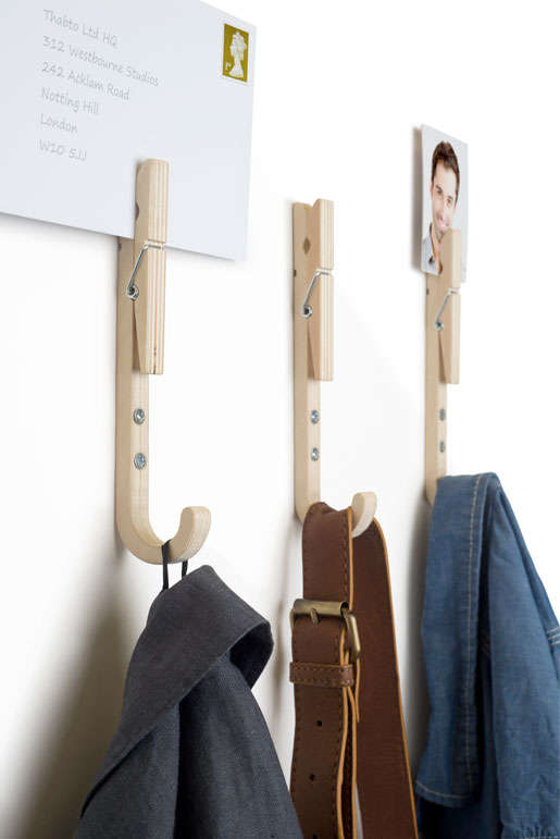 Clothespin-Inspired Hooks