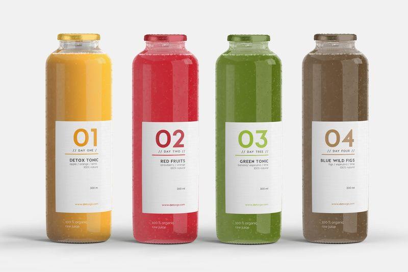 Vibrantly Branded Juice Detoxes