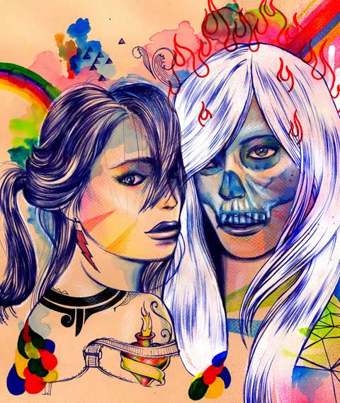 Morbid Rainbow Art