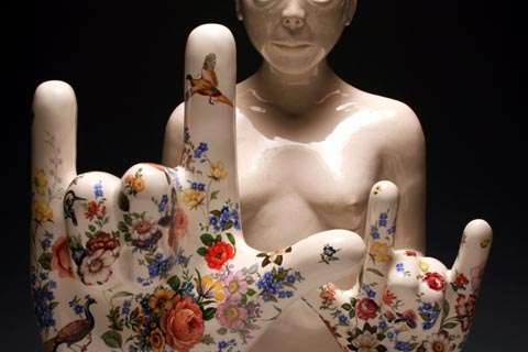 Ceramic Rocker Hands