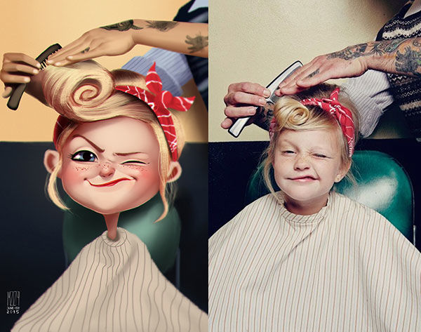 Cartoonish Children Portraits