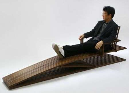 Big Four Wheelers >> Tall People Furniture: Jung Myung Taek's 'Ducking Lounge Chair' Designed for Long Limbs