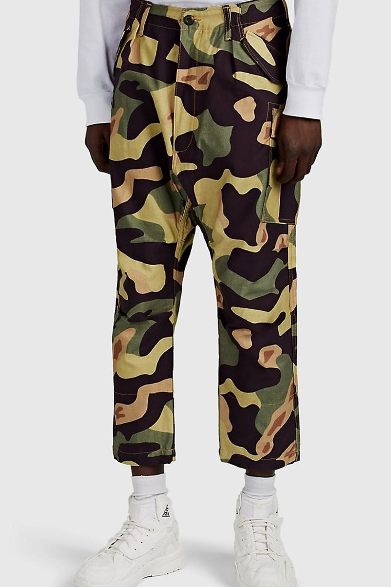 Camouflage Tapered Cargo Pants
