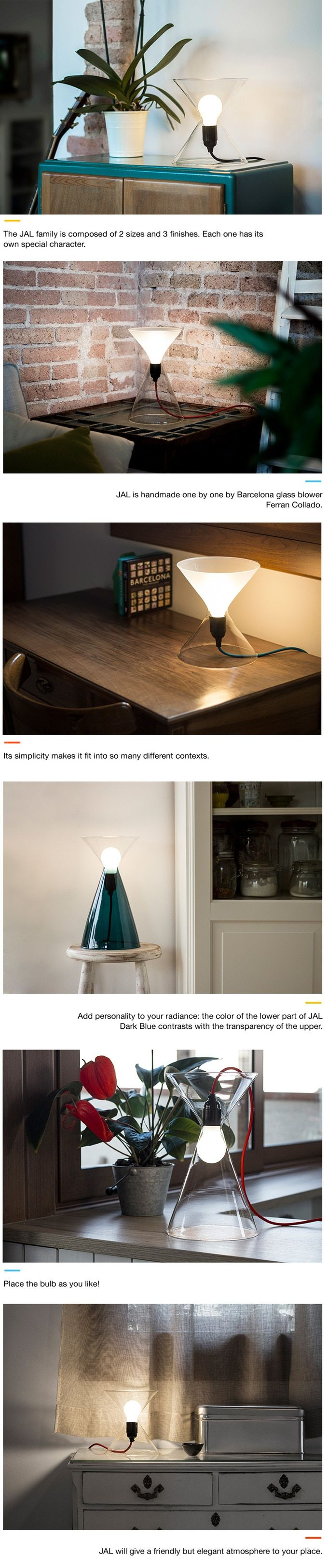 Hourglass-Shaped Lamps
