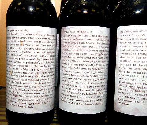 Literary Beer Bottles