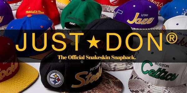 Reptilian Sports Caps   Just Don Mitchell   Ness Snakeskin Snapback dba2f7850cc