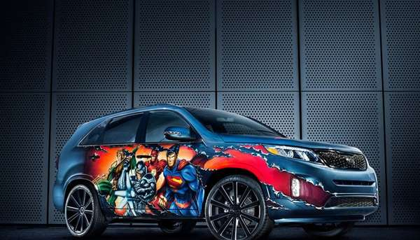 Turbo-Charged Comic Book Cars