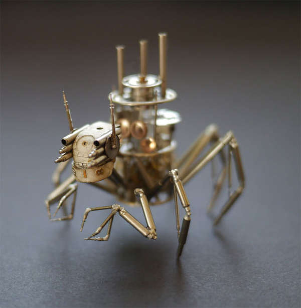 Recycled Timepiece Insects