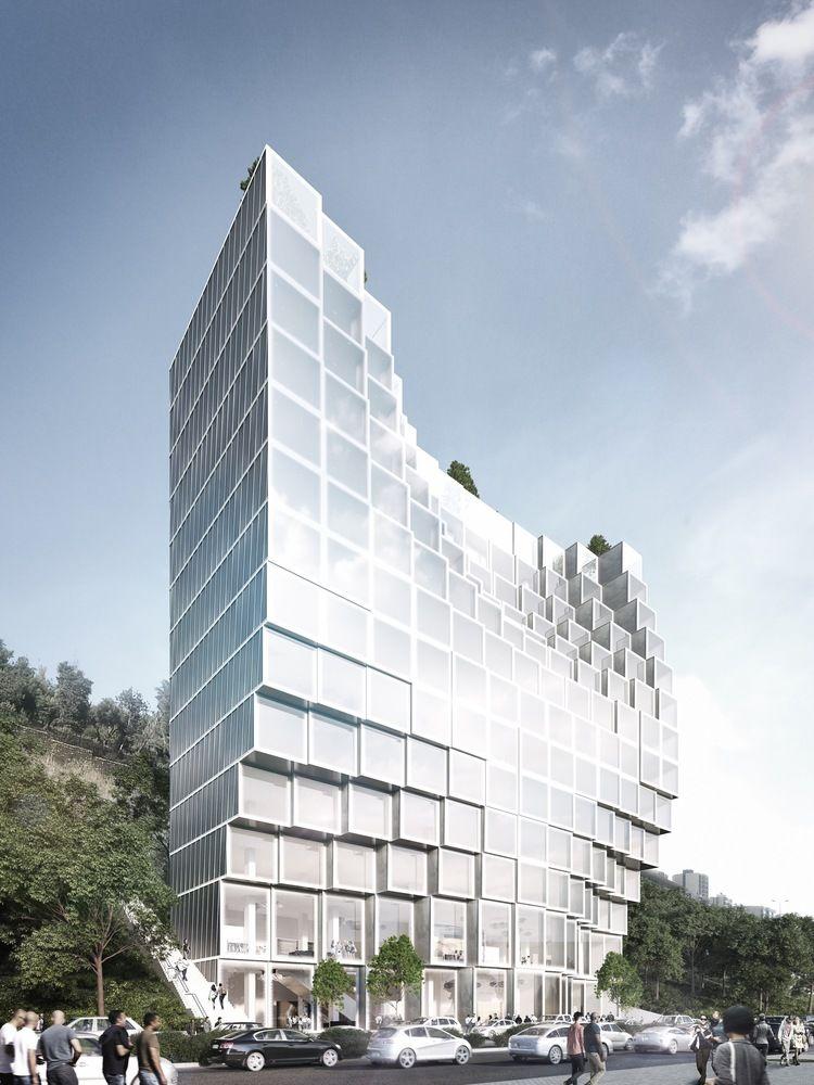 Shimmering Cubic Condominiums