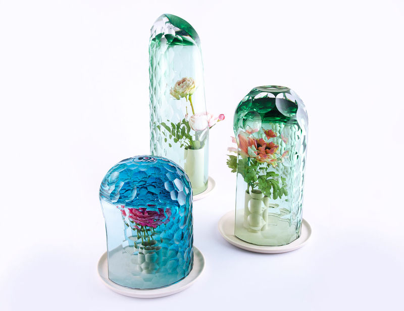 Textured Kaleidoscopic Vases